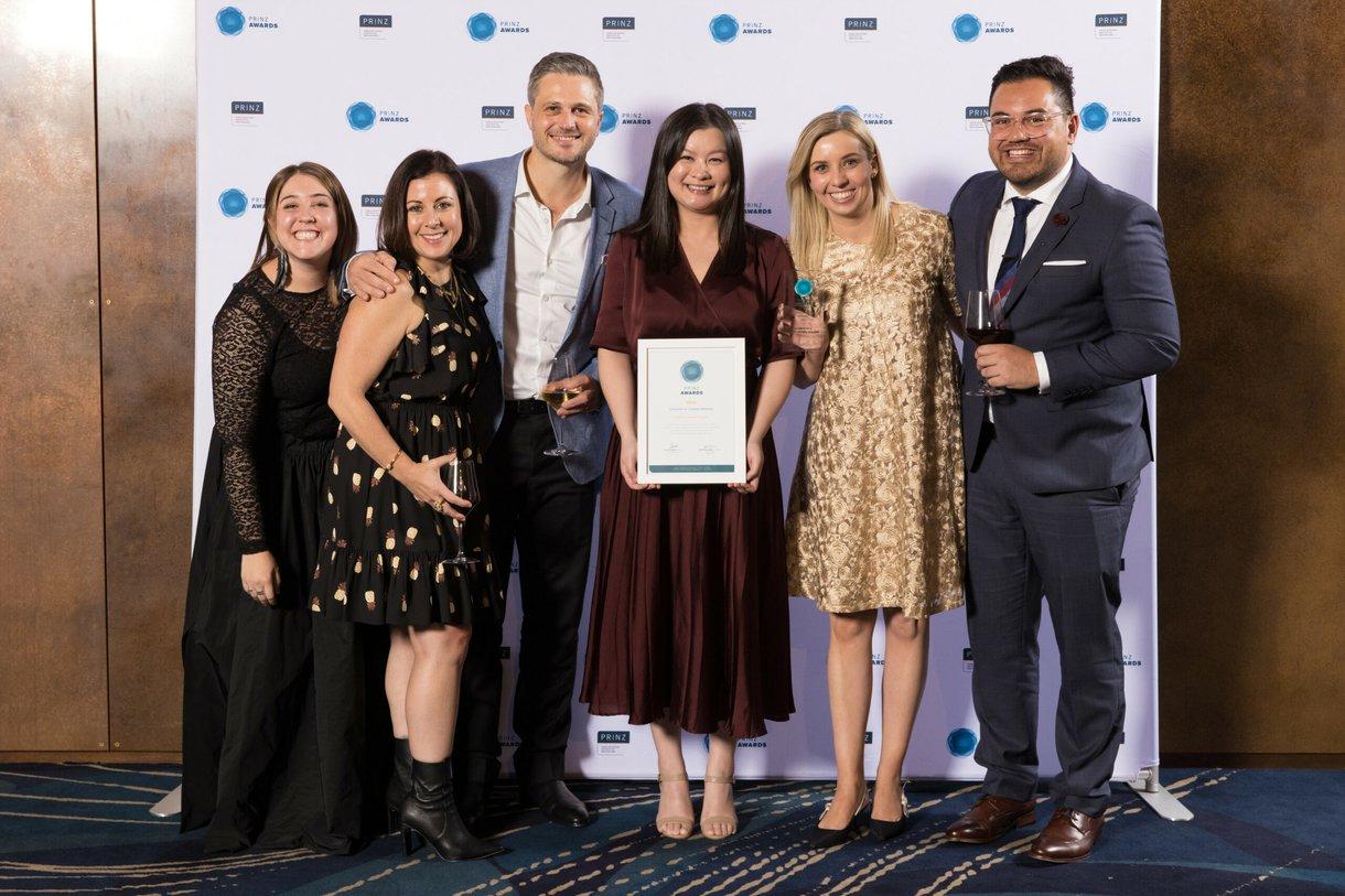 Acumen team at PRINZ awards ceremony 2021