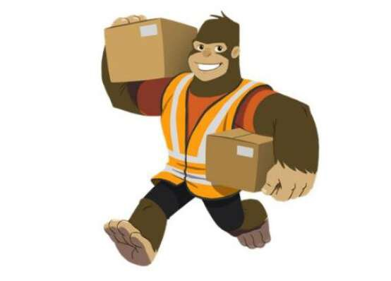 Animated ape with boxes